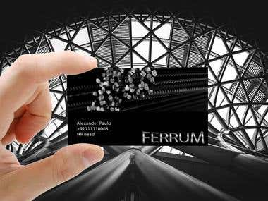 Ferrum business card and logo