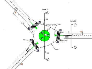 "Roundabout design ""Transportation job"""