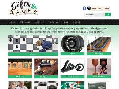 WordPress Website for playing games + Shop
