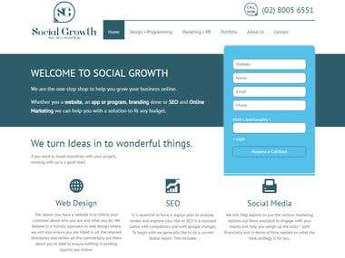 WordPress Website: Social Growth