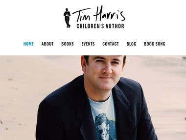 WordPress Website: Tim Harris Books