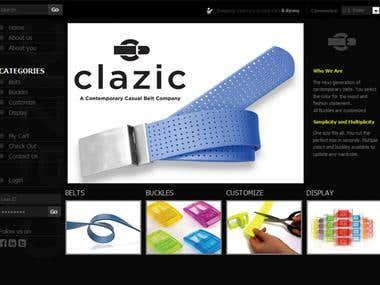 Clazic Website Design