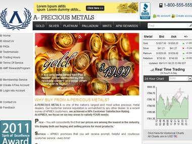 A Precious Metals Website Design