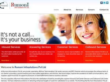 Rumoni Website Design