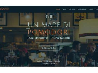 A fresh restaurant website