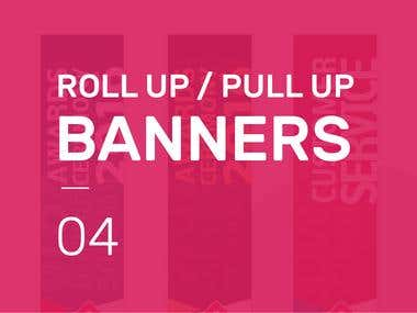 Retractable / Pull up / Roll up Banner