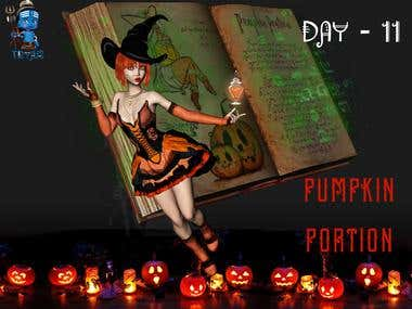 Day 11 - Pumpkin Portion - Witch and Portion