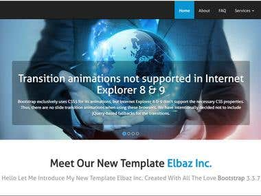 A responsive website with animations