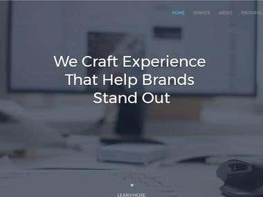 A company site responsive and animated