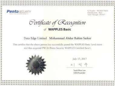 WAF - Penta Security Certificate