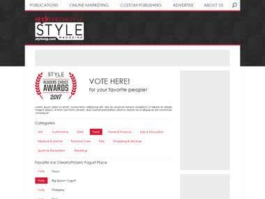 Voting page design
