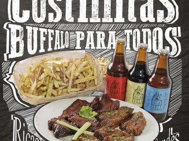 Afiches de restaurante Navío y Buffalo