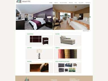 Website for HotelFFE furniture Manufacturing company