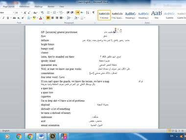 some of my Translation Work