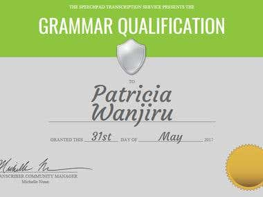 Grammar Qualification