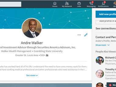 Managing Linkedin Profile