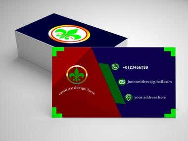 I will design a professional business card.