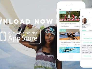 Video Streaming and Social networking app for Sports women