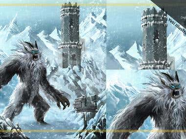 Yeti Illustrations - Digital Painting and Illustrator