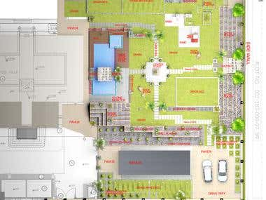 Villa landscape concept plan