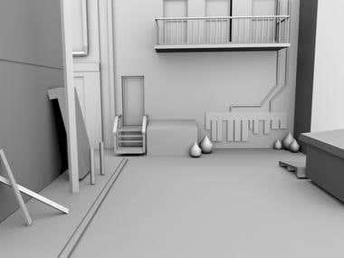 3d game scene
