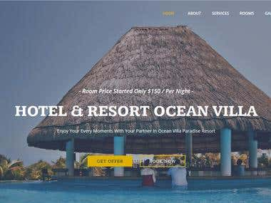 Hotel Resort Responsive Adobe Muse Site