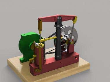 Horizontal Beam Steam Engine