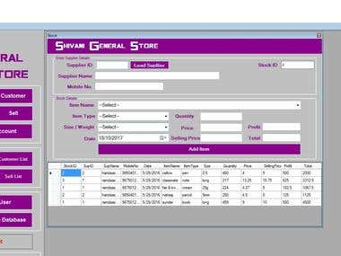 This Is My Live project about General Store in C#.Net