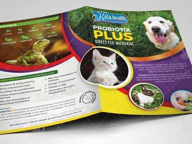 Bi Fold Brochure Design for Probiotix Plus