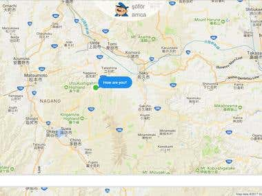 Map Chatting App (SPA Web Application)