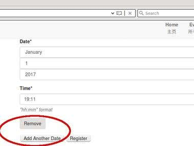 Add formset to support multiple dates for an event