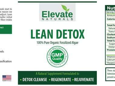 Label design for natural supplement