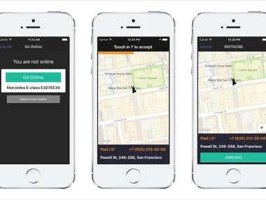 Instacab Driver app - Uber like app