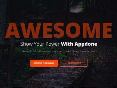 Responsive Html App Landing Page