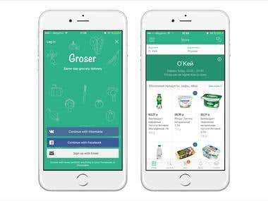 Groser - Grocery delivery service like Instacart