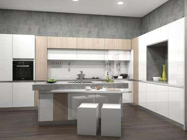Modern Kitchen Visualization (2)