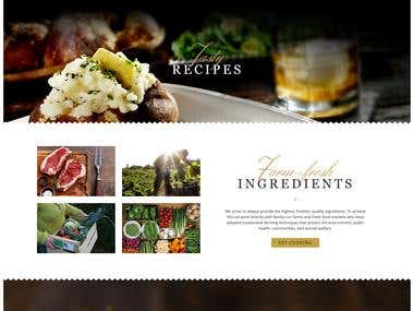 Restaurant Shop Site Using Wordpress CMS