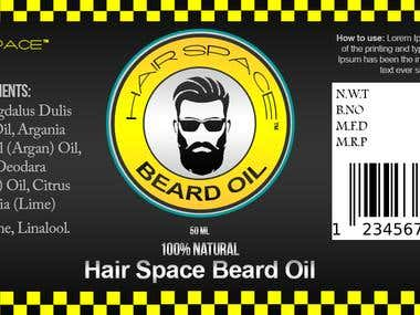 Label Design for Space Men Grooming products