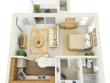 Zoom out view of a floor plan
