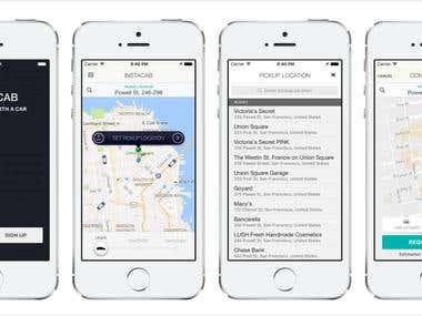 Instacab Rider app