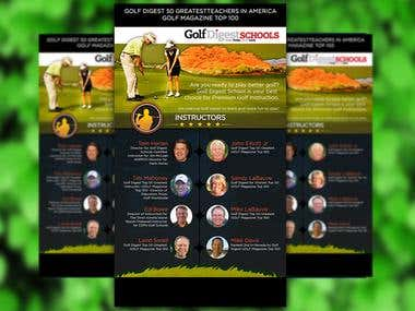 Design E-flyer for Golf Digest Schools