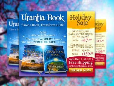 Design Brochure for Urantina Book Holiday Sale