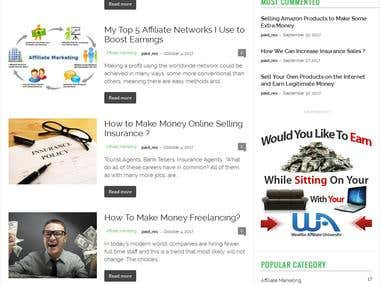 Wordpress Affiliate Links Blog Based Website