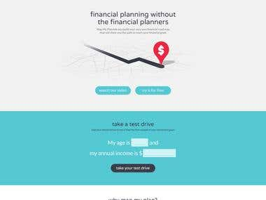 mapmyplan (website design and html/css conversion)