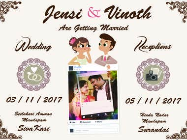 Wedding - save the card - card design