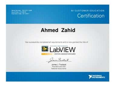 Certified LabVIEW Associate Developer