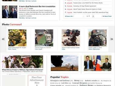 Website Design for Forces Operations Blog