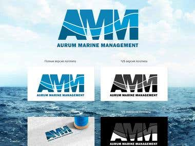 Logo design for Aurum Marine Management