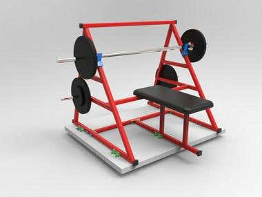 GYM BENCH PRESS DESIGN