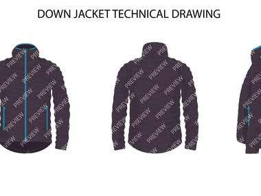 TECHNICAL OUTDOOR CLOTHING DRAWING